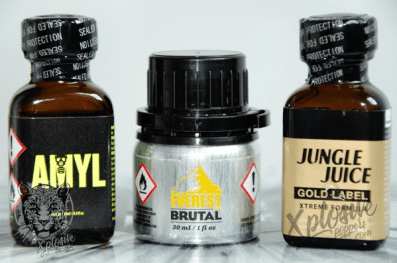 PACK POPPERS 100% AMYLE : Amyl + Brutal + JJ Gold Label