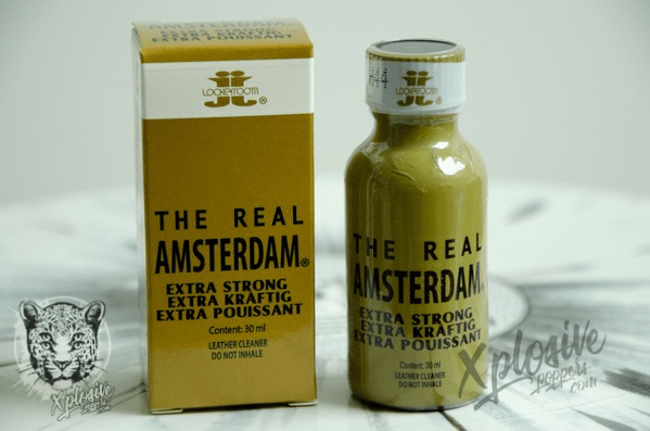 Poppers The REAL AMSTERDAM 30ml – Nitrite HEXYLE | NOUVEAUTÉ !!