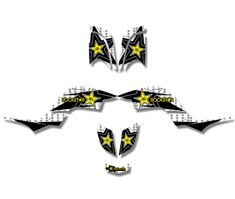 New Style 3M rockstar DECALS STICKERS Graphics Kits FIT