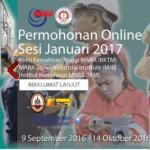 Permohonan IPMA Pengajian KKTM dan IKM 2017