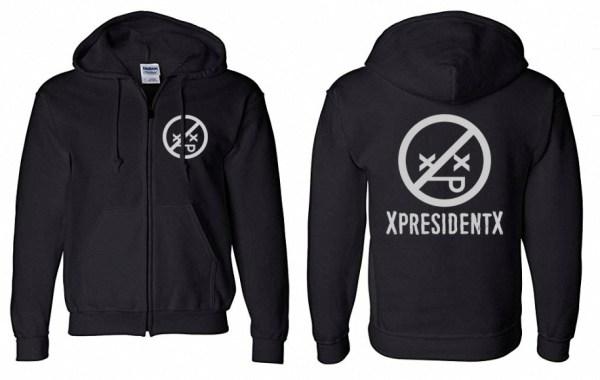 XpresidentX rapmetal sudadera cremallera Rap Metal Punk