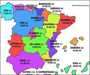 Mapa de CCAA como si fueran países