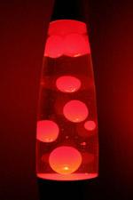red lava lamp