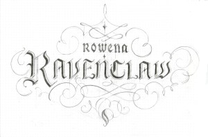 calligraphy_ravenclaw_pencil wip