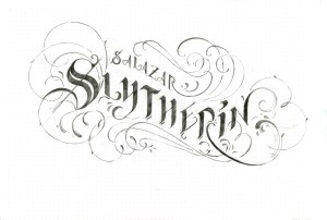 calligraphy_slytherin_pencil wip