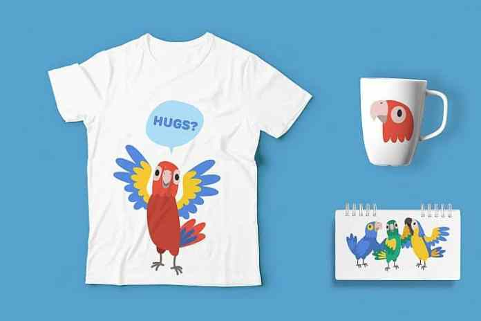 Free Parrot T-shirt Graphics