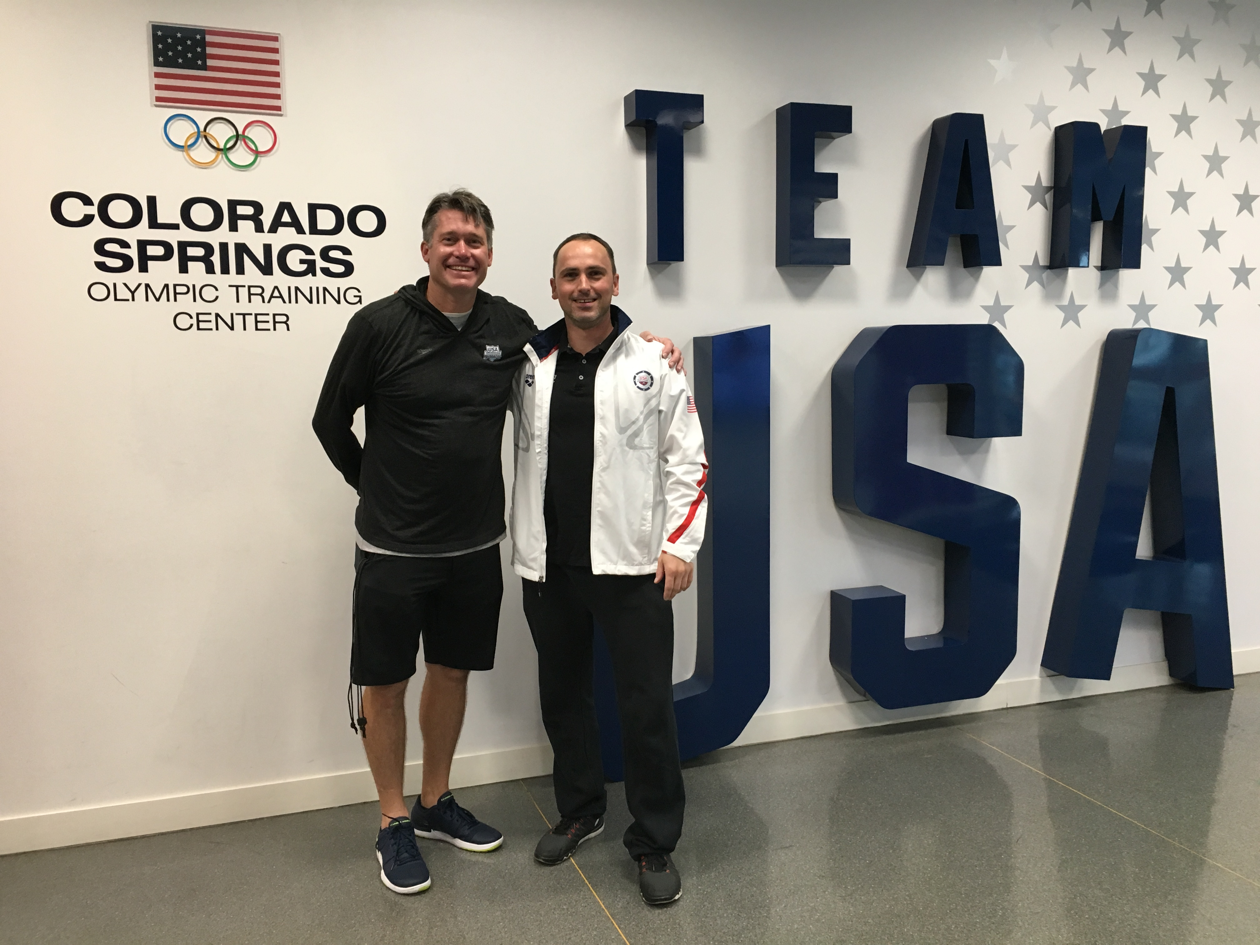 Alexander Steinhart mit Dave Durden im US Olympic Training Center