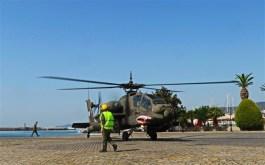 Εικόνες από την σημερινή προσγείωση του ελικοπτέρου Απάτσι στο λιμάνι ΑΠΟΣΤΟΛΟΣ ΠΑΥΛΟΣ