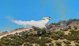 Δύσκολη νύχτα για τους κατοίκους στις ορεινές περιοχές του δήμου Καβάλας λόγω μεγάλης πυρκαγιάς