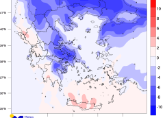 Ψυχρό μέτωπο θα φέρει πτώση της θερμοκρασίας, θυελλώδεις ανέμους και τοπικές βροχές τη Μεγάλη Τετάρτη