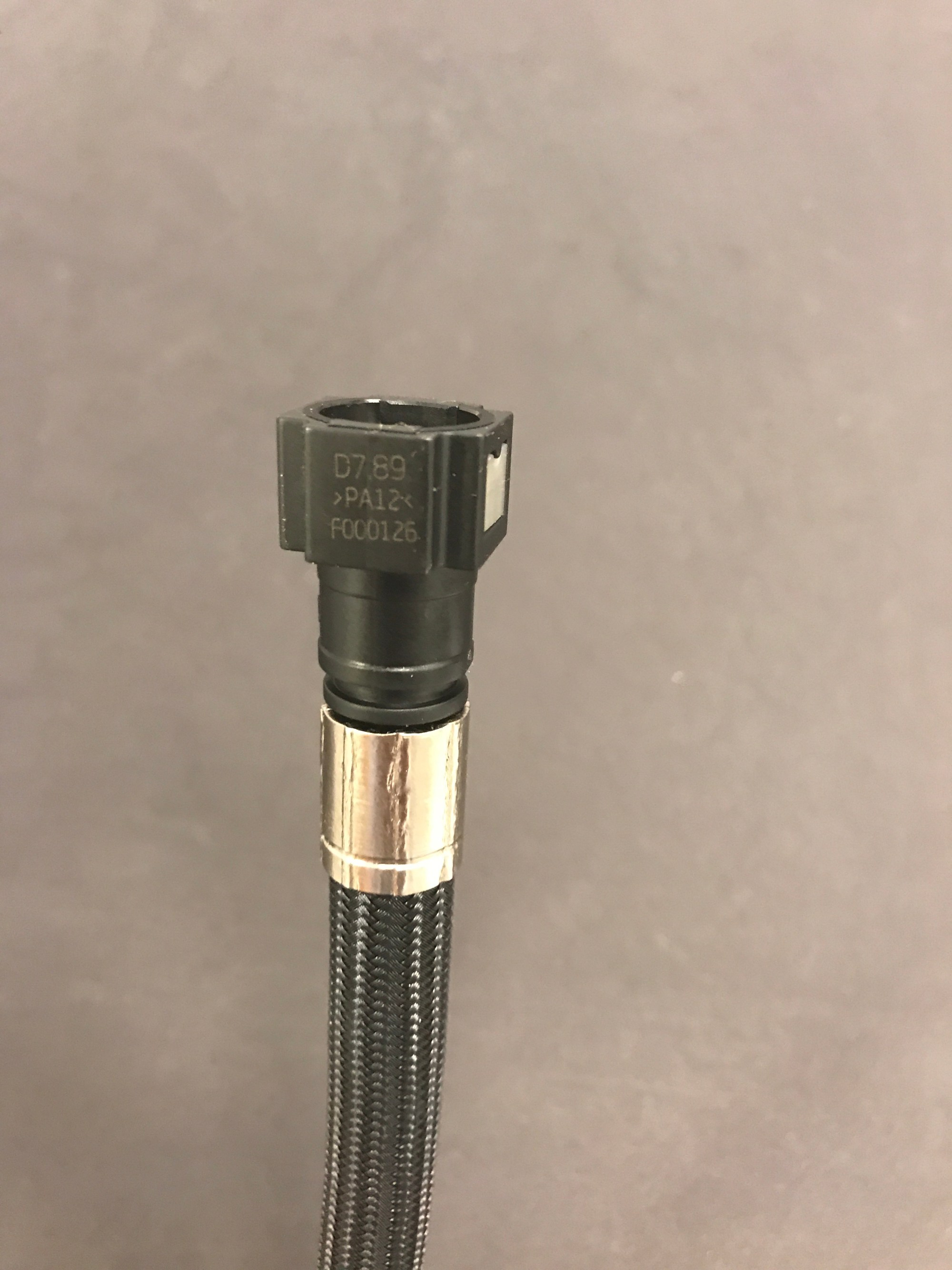 hight resolution of fuel injection quick disconnect crimp fittings with super nickel collars for proplus ptfe race hose convolutions xrp inc