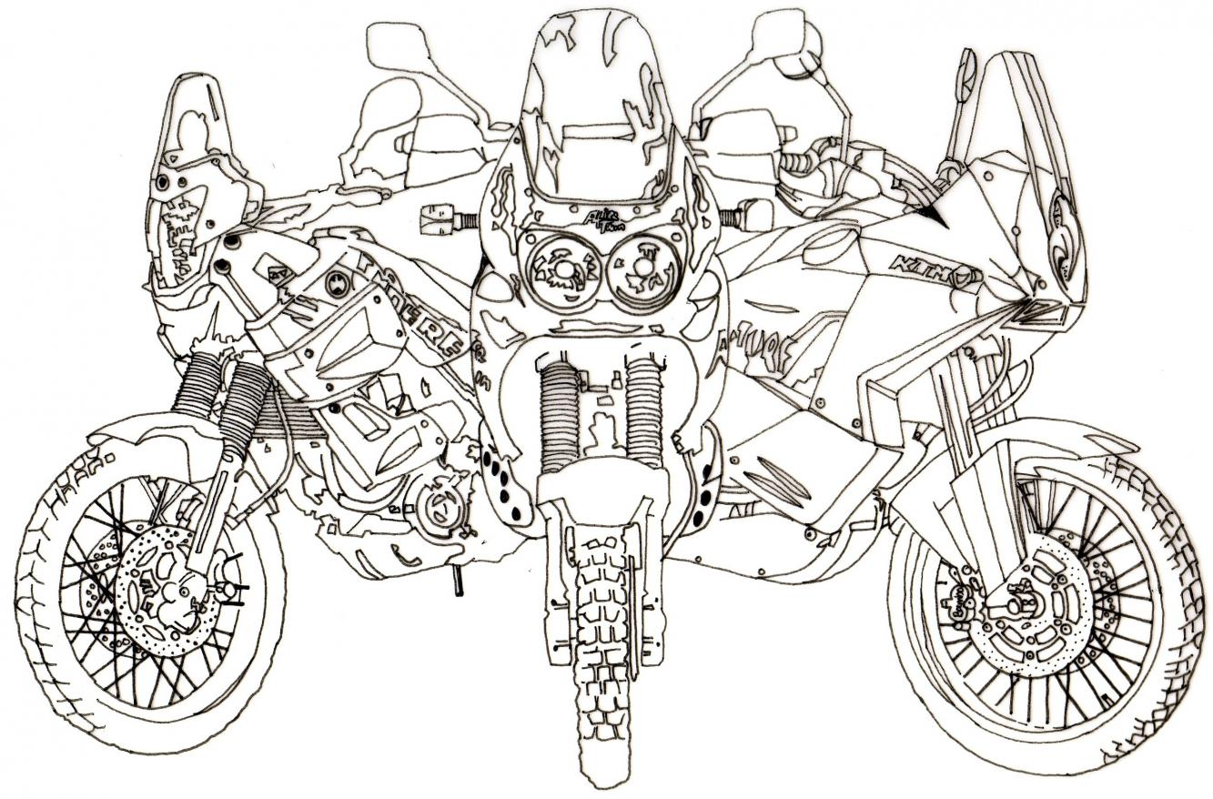 Line Drawing Of At Wanted