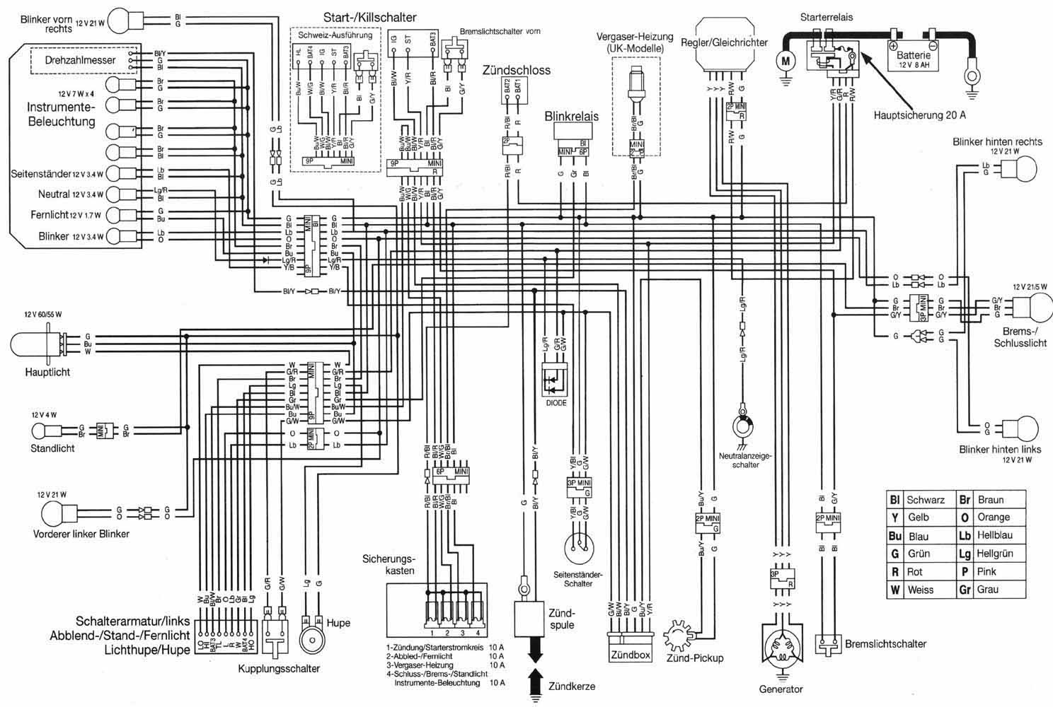 Wiring Diagram Honda Transalp 650