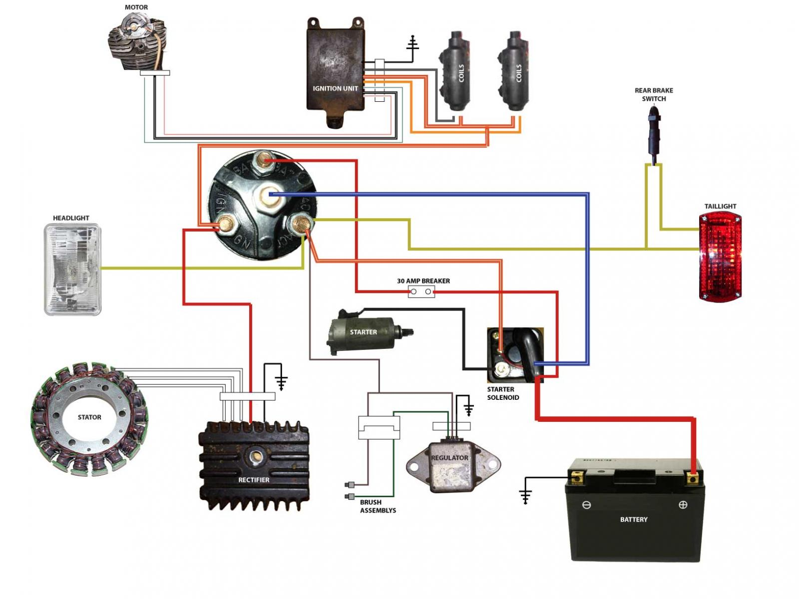 scooter ignition switch wiring diagram liftmaster garagentor ffner yamaha sr500 motorcycle harness