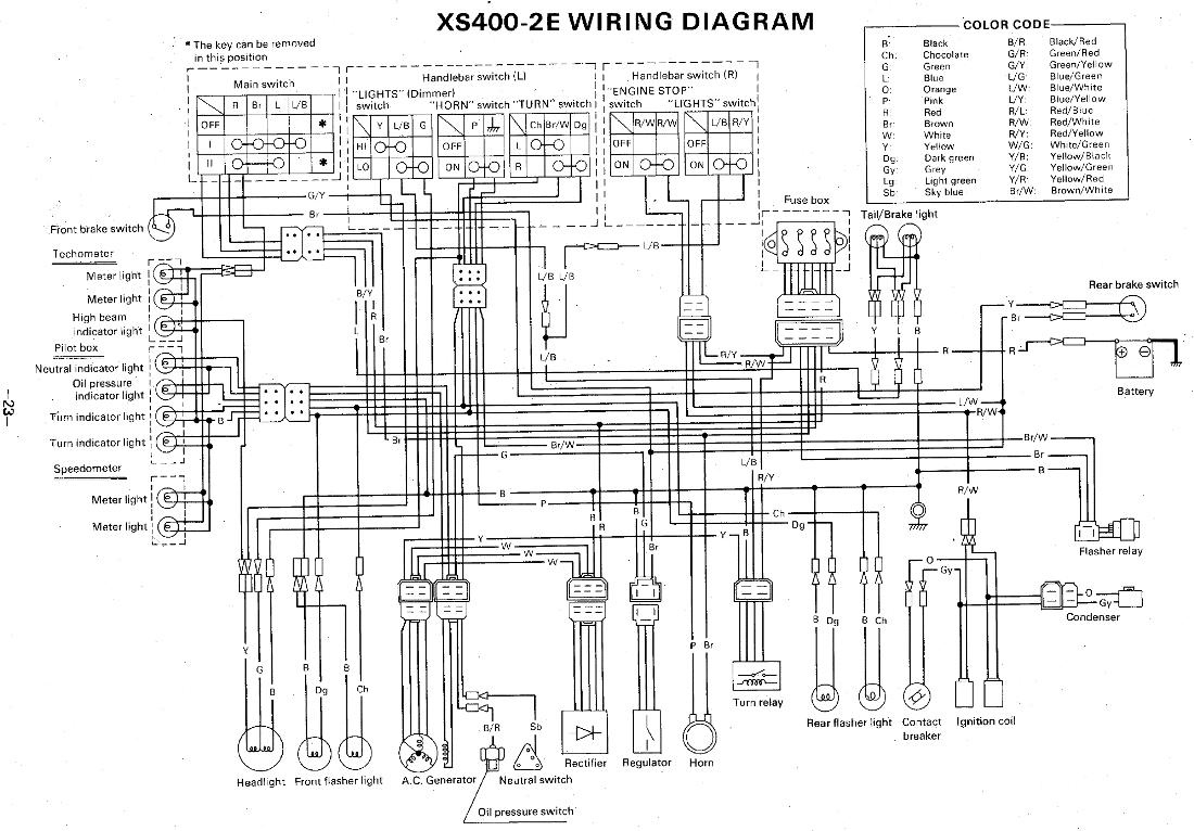 Xs650b Wiring Diagram
