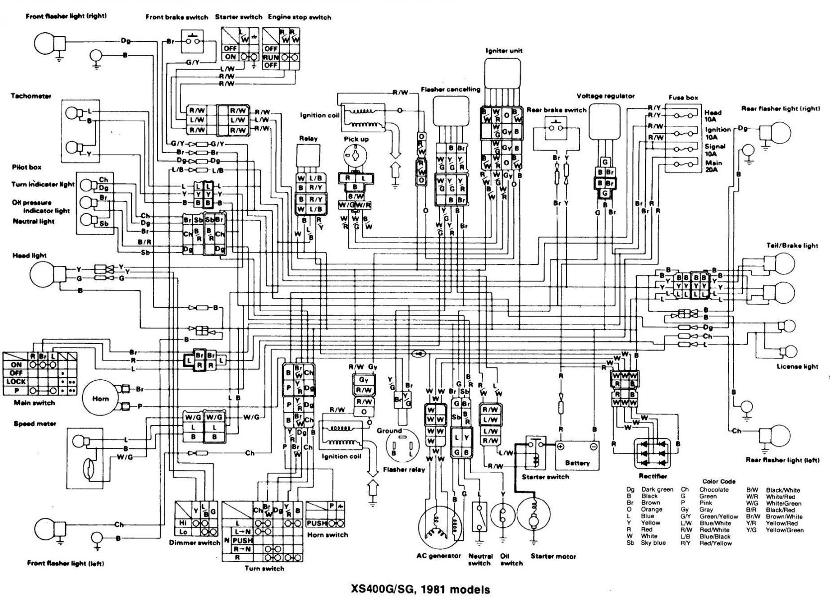 Wiring Diagram For Yamaha Xt500