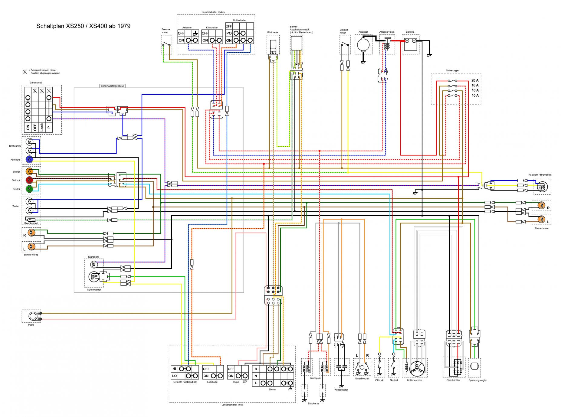 hight resolution of xs400 wiring diagram