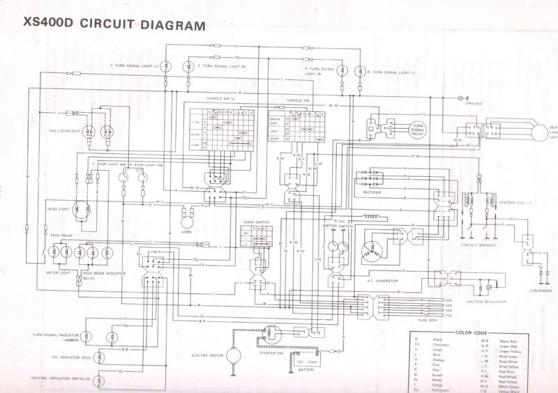 Wiring Diagram For 1982 Yamaha Maxim 550: Yamaha xj wiring