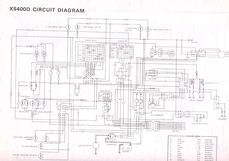 1981 yamaha 400 special wiring diagram