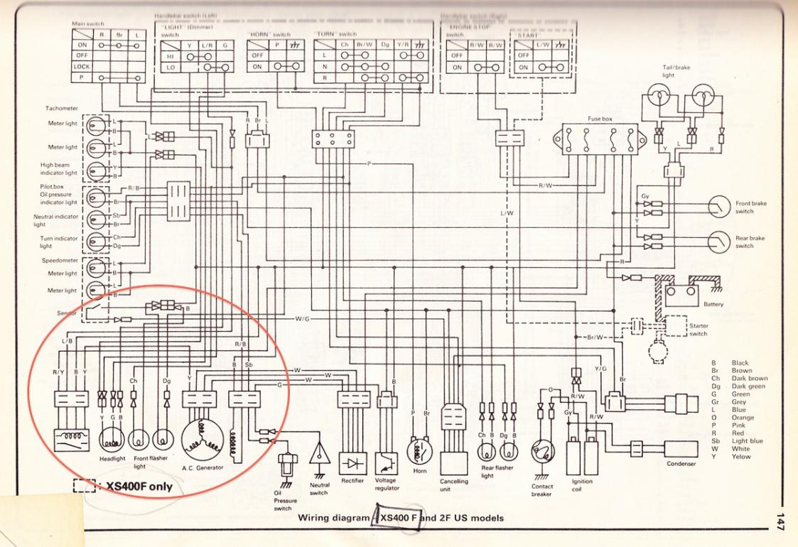 xs400 simplified wiring diagram