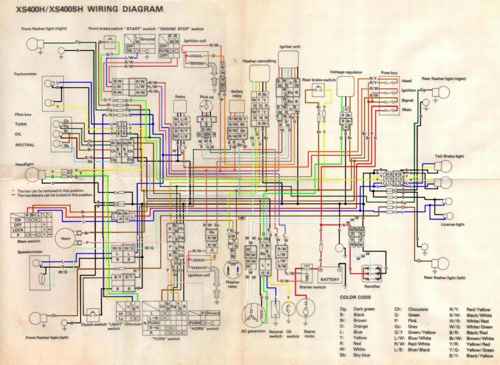 medium resolution of 1981 xs400 wiring diagram 25 wiring diagram images 1979 yamaha xs400 1981 honda xr 400