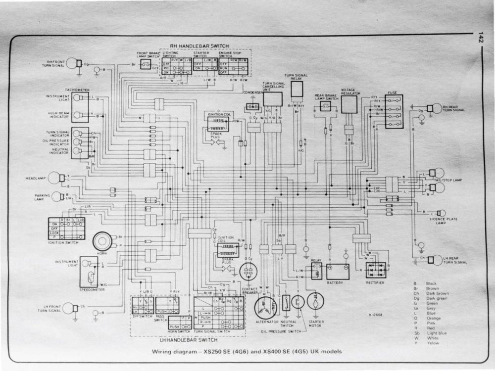medium resolution of yamaha 1975 1984 xs250 360 400 haynes manual wiring  xs400se simplified rewire yamaha