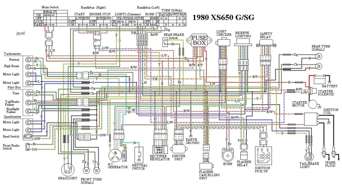 virago 250 wiring diagram sun tach 2 hesitation under load when turn signals are flashing! lol | yamaha xs650 forum