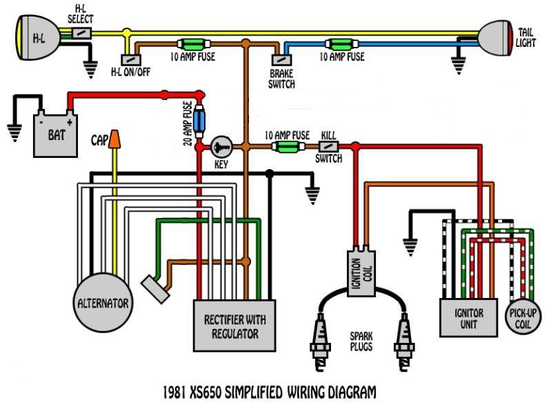 Xs650 Wiring Diagram Wiring Wiring Diagram And Schematics