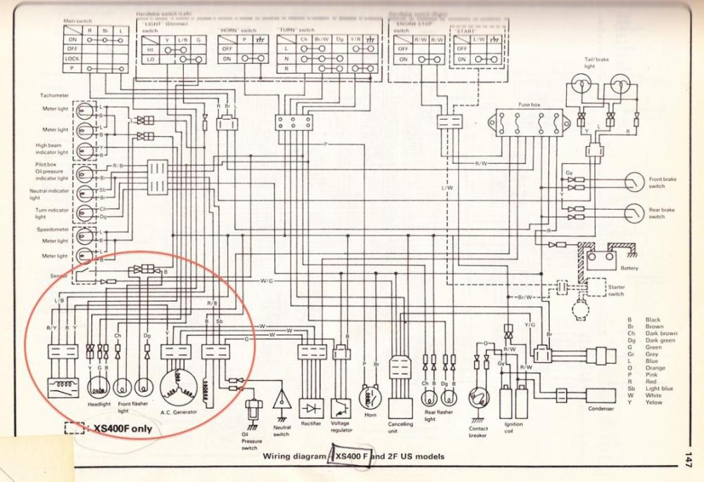 medium resolution of xs 400 special wiring diagram wiring diagram blogs yamaha r1 wiring diagram xs400 wiring diagram