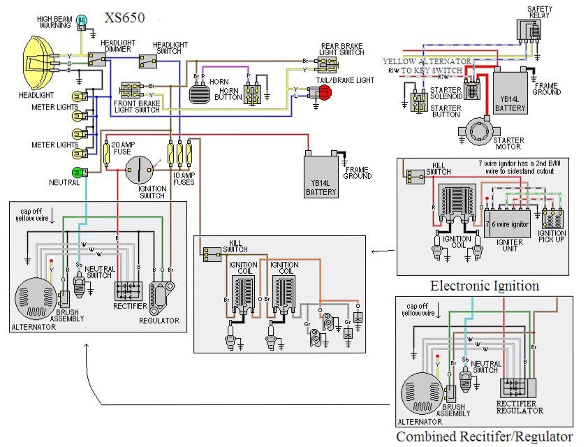 yamaha xs650 wiring diagram kick start wiring diagram at fashall.co