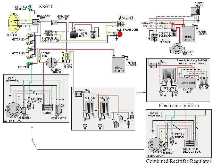 Bobber Wiring Diagram Yamaha XS650 Forum