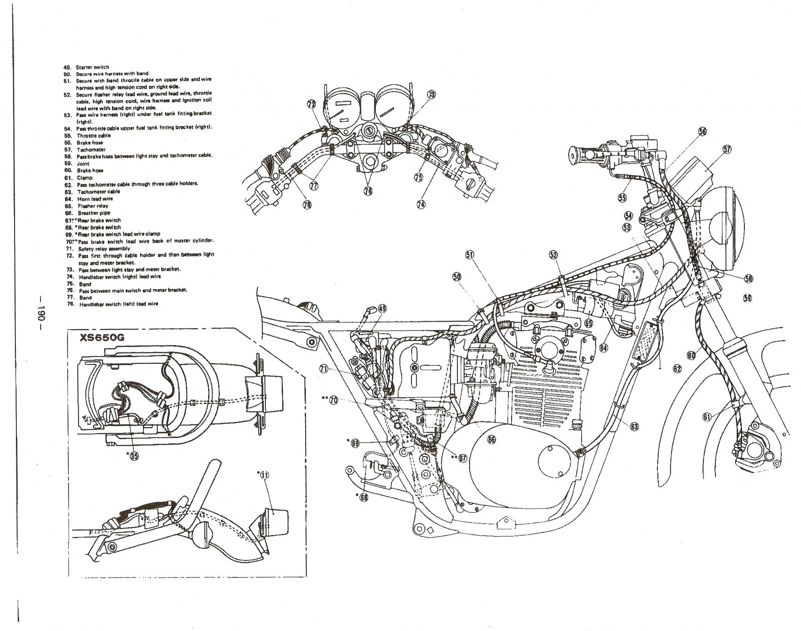 Xs650 Wiring Harness Routing : 28 Wiring Diagram Images