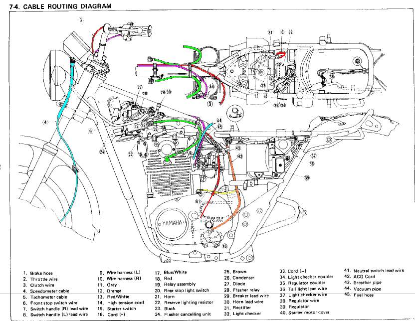 Xs650 Bobber Wiring Harness : 27 Wiring Diagram Images
