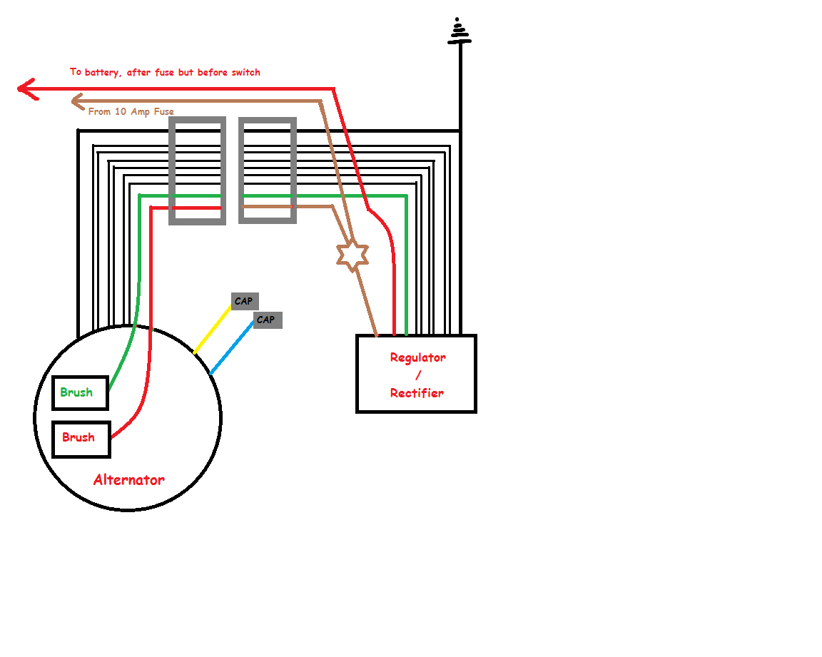hight resolution of  enlarged view of alternator rectifier wiring diagram png