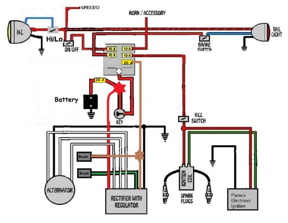 medium resolution of yamaha 650 wiring schematic