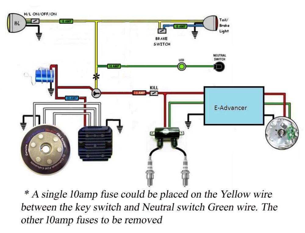 medium resolution of simplified wiring cap pma pamco e advance jpg