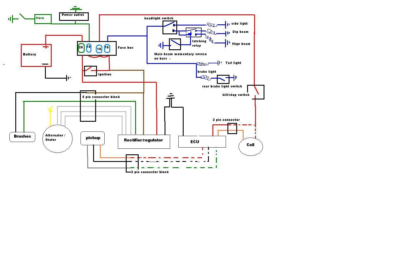 Xt350 Wiring Diagram Library Transmission On Yamaha Moto 4 1985 1975 Dt250