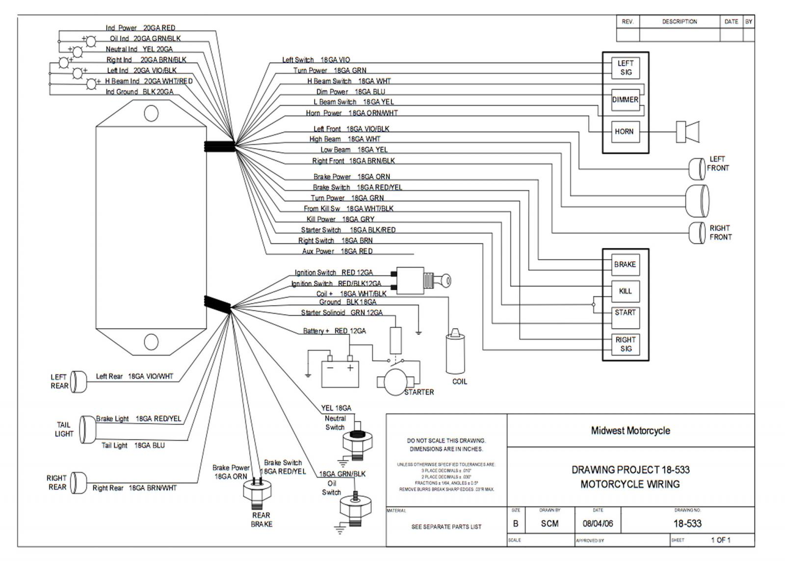 Ultima Wiring Harness - Free Wiring Diagram For You •