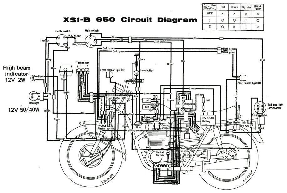 some wiring diagrams xs650 forum