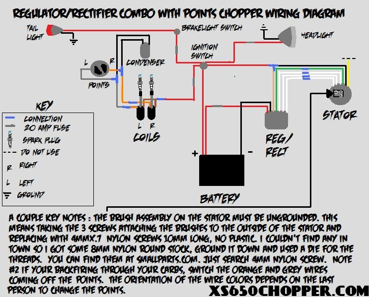 Simple Wiring Diagram STILL Needs Help!!! Yamaha XS650 Forum