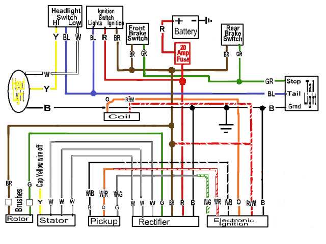 Some Wiring Diagrams Page 7 Yamaha XS650 Forum
