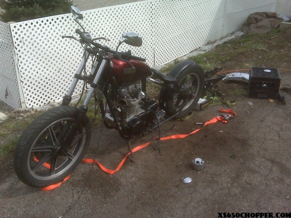 medium resolution of chopper wiring harness yamaha xs650 tc bros this is my xs 650 bobber cutup and welded a hardtail on i know nothing