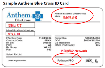 Blue Cross ID card