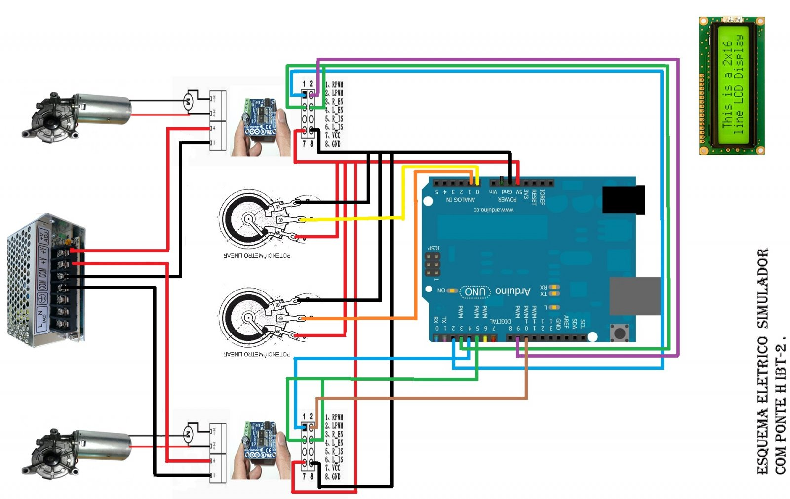 hight resolution of h bridge wiring ebook and manual referencearduino uno r3 ibt2 hbridgeh bridge wiring 17