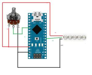 Tutorial  diy ardunino adjustqable rpm leds using ws2812b leds