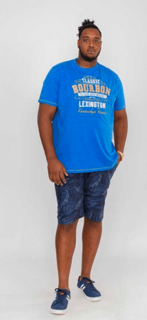 t-shirt bleu royale homme grande taille