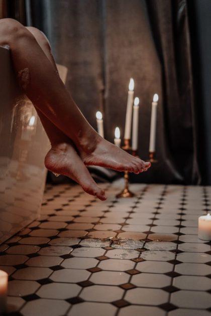 pieds mouillés