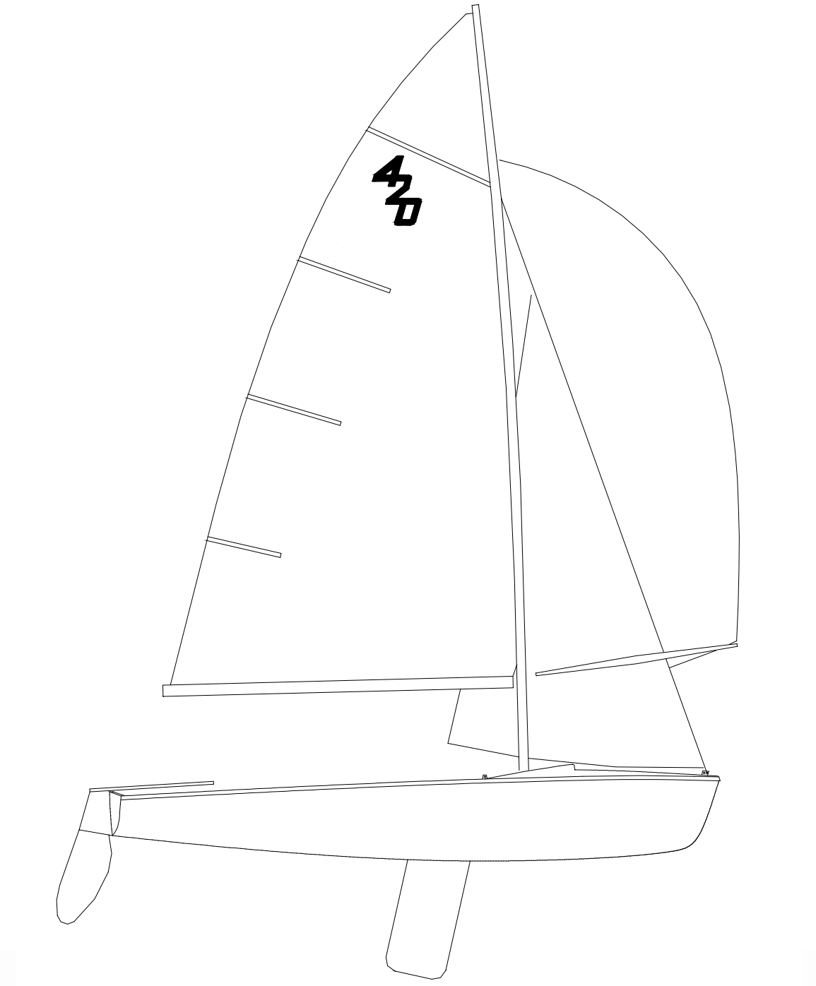 hight resolution of 420 class sailboat specifications