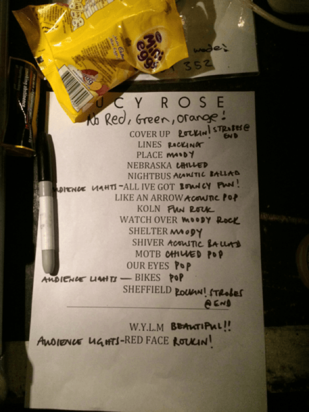 """Set List (and some mini-eggs!)"""