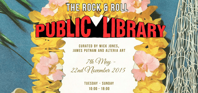 MICK JONES of The Clash opens The Rock and Roll Public Library 1